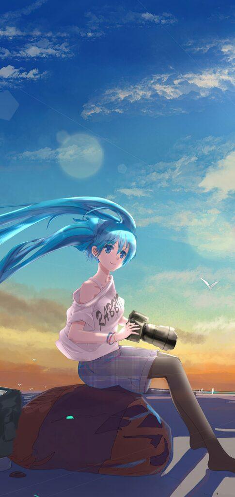 Girl Anime Lock Screen Wallpaper
