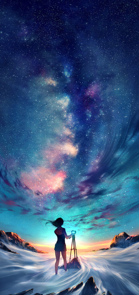 Night Sky Anime Wallpaper