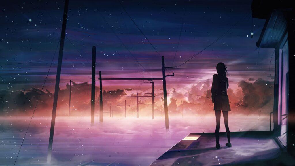 anime city computer wallpaper