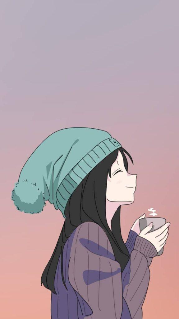 kawaii anime girl wallpaper
