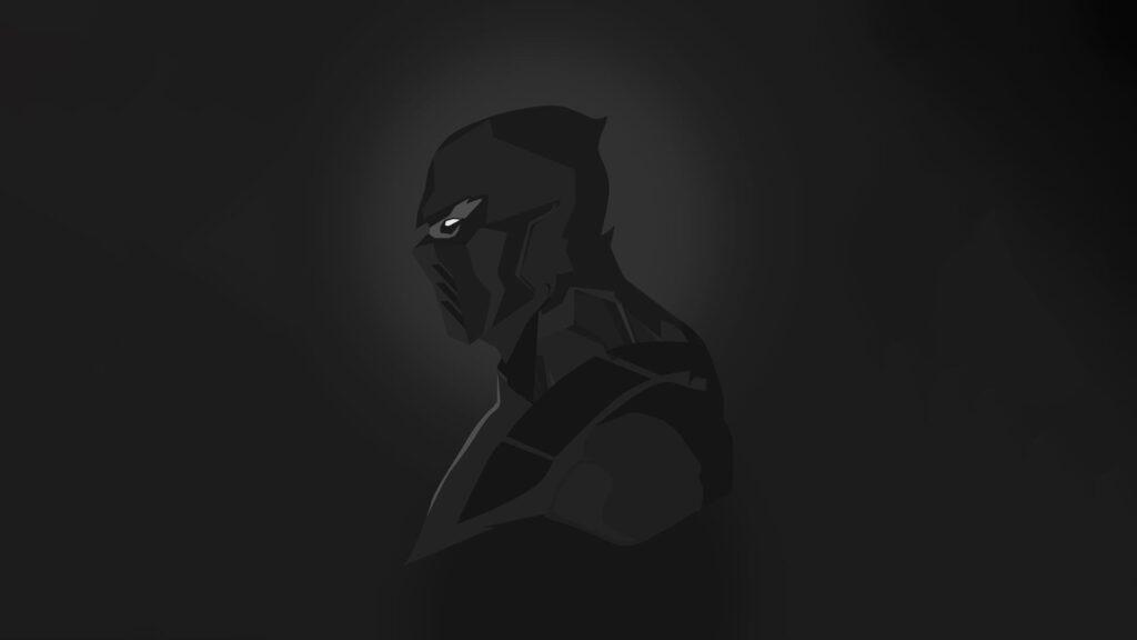 black desktop image