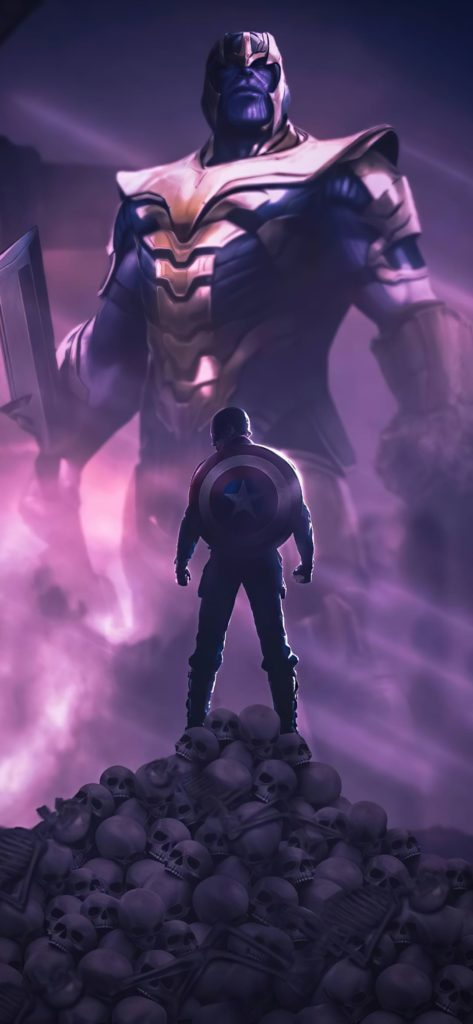 Captain America Thanos Wallpaper