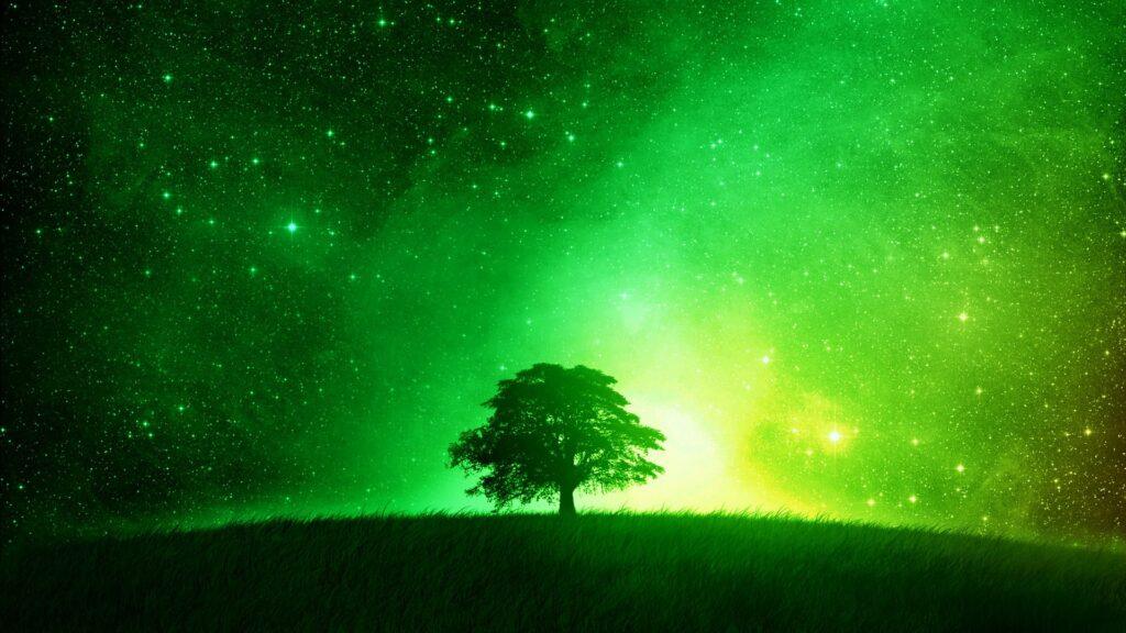 green background for desktop