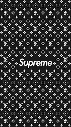 Louis Vuitton And Supreme Background