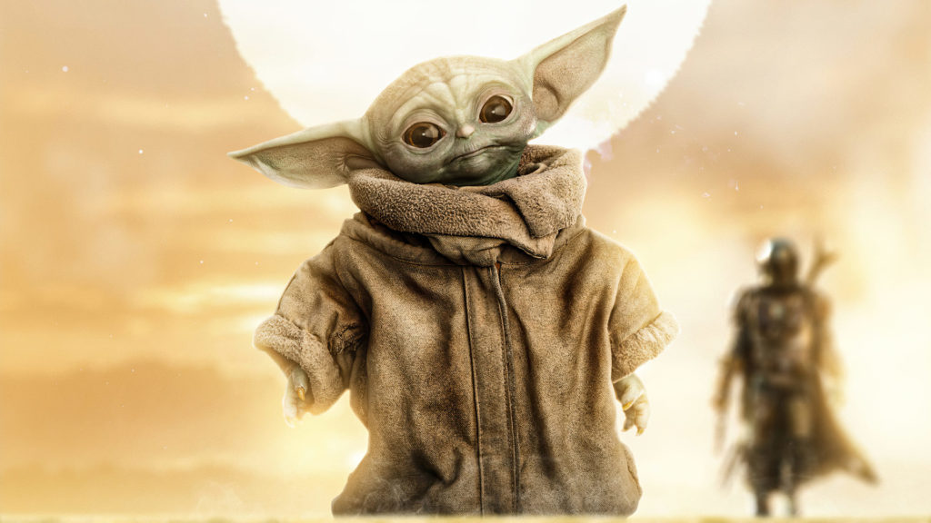 Baby Yoda Desktop Wallpaper