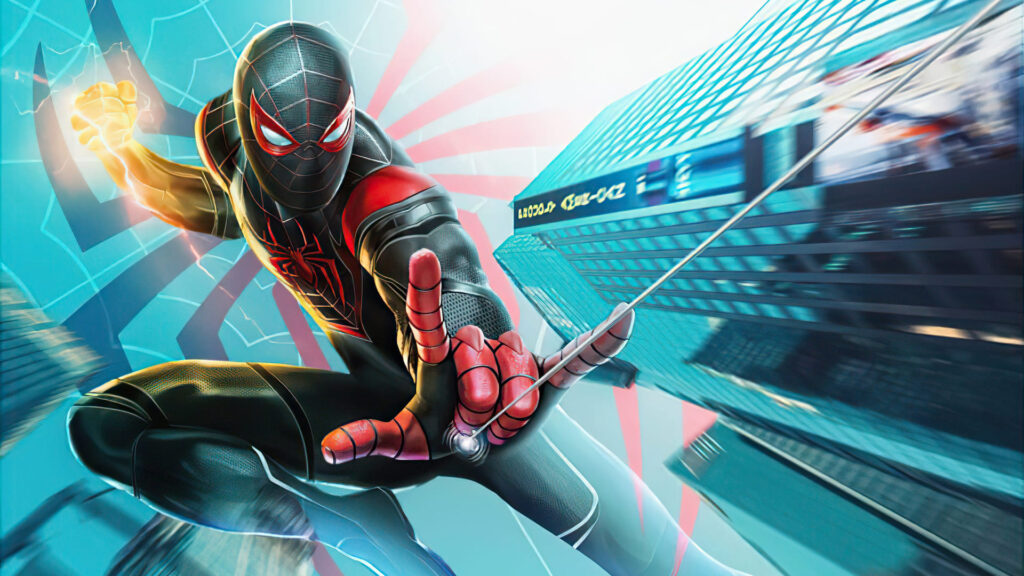 Spider Man Miles Morales Laptop Background (2)