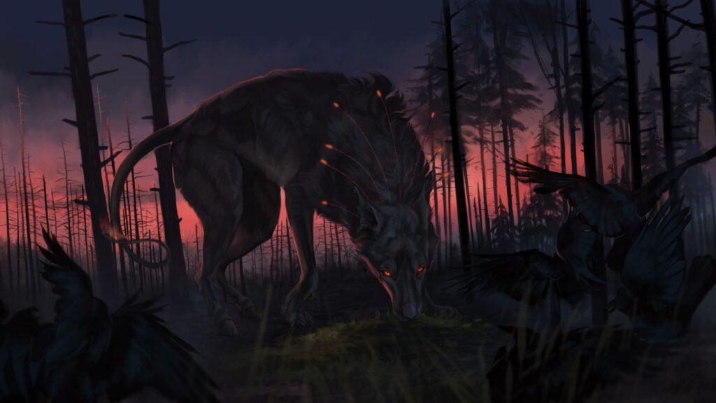 Wolf Computer Background