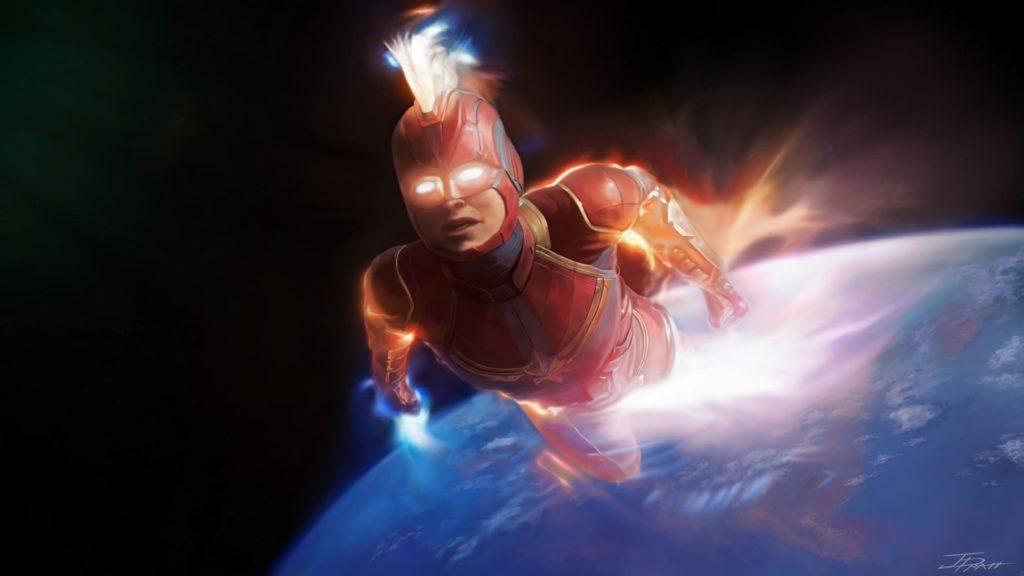 Captain Marvel Computer Wallpaper