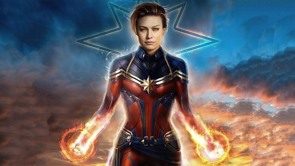 Captain Marvel For Computer 4k Wallpaper