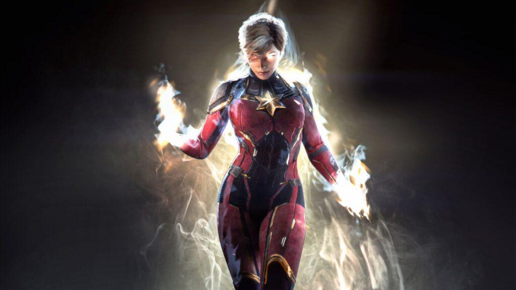 Captain Marvel For Laptop Wallpaper