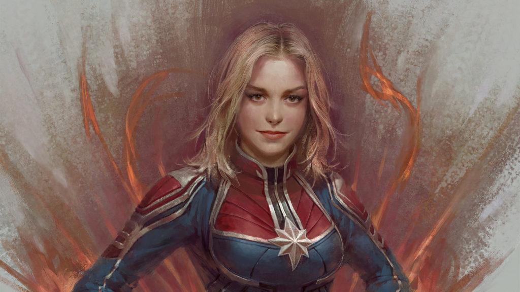 Captain Marvel Laptop Wallpaper
