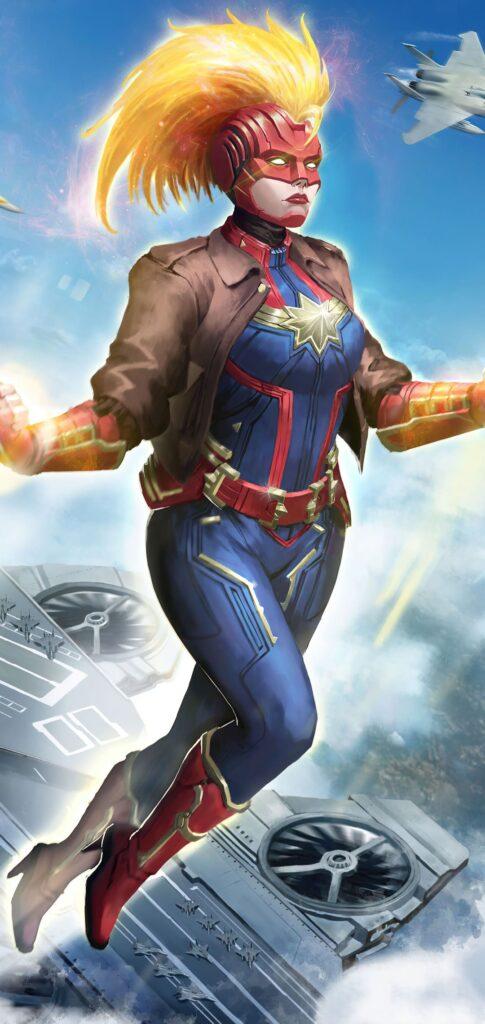 Captain Marvel Wallpaper For Iphone 7