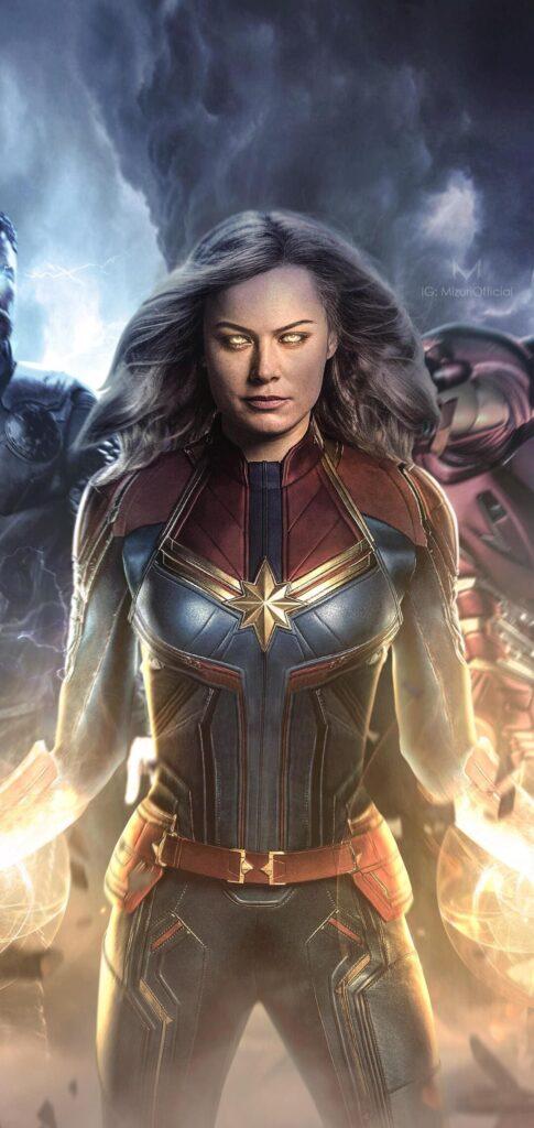 Captain Marvel Wallpaper For Iphone 8