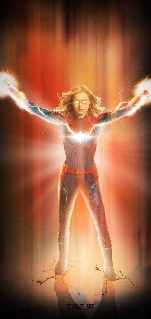 Captain Marvel Wallpaper For Iphone X