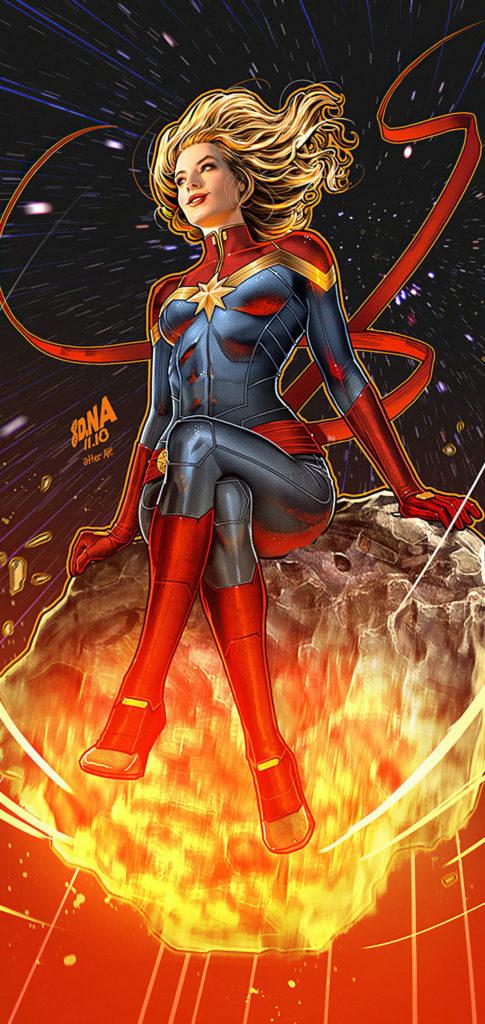 Captain Marvel Wallpaper Phone