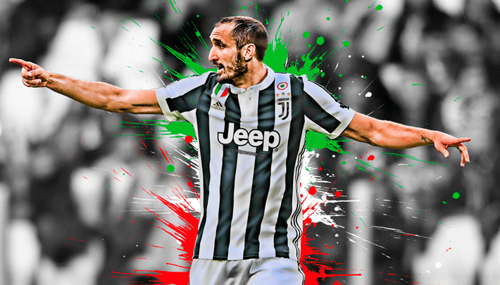 Giorgio Chiellini Laptop Wallpaper 4k