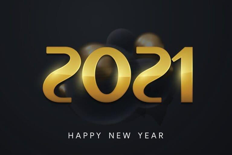 Happy New Year 2021 Computer Wallpaper