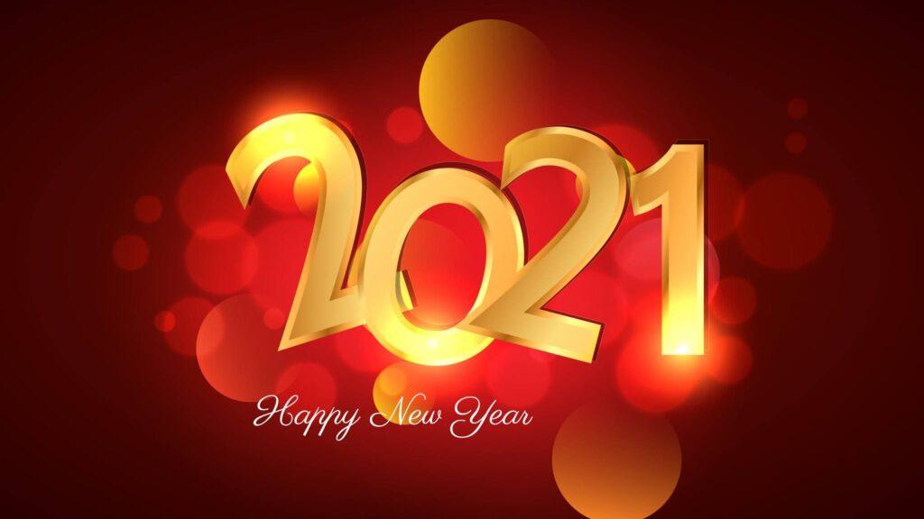 Happy New Year 2021 Laptop Background