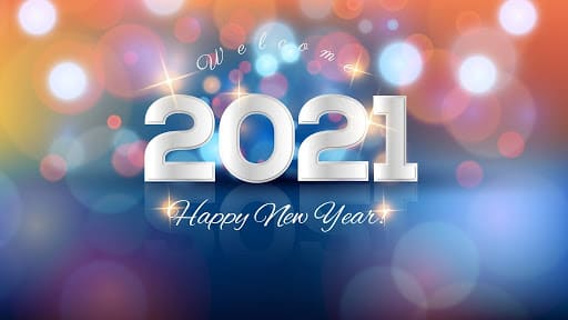 Happy New Year 2021 Laptop Wallpaper