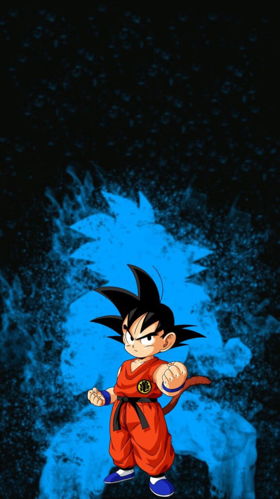 kid goku background