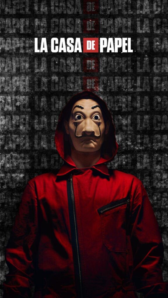 money heist mask android wallpaper