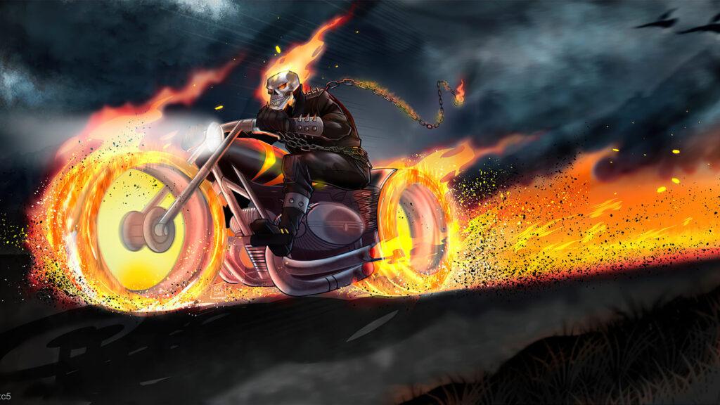 ghost rider laptop wallpaper