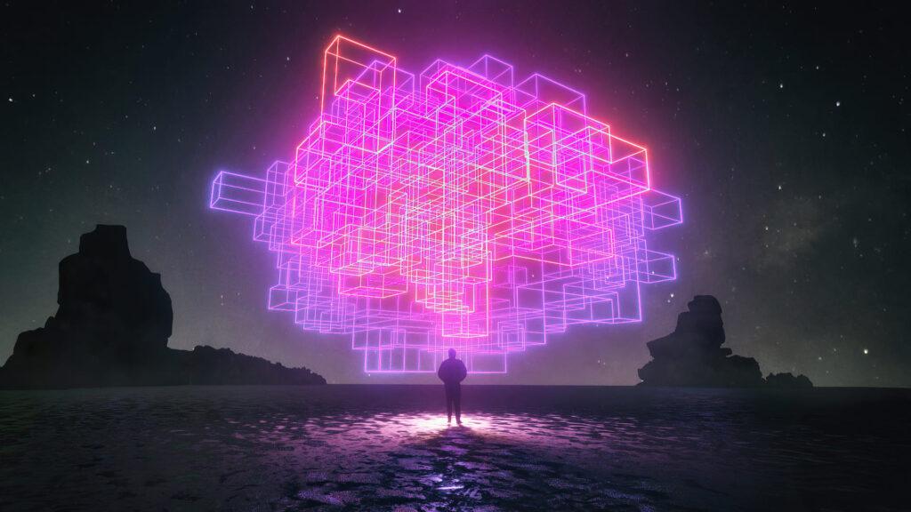 neon desktop background