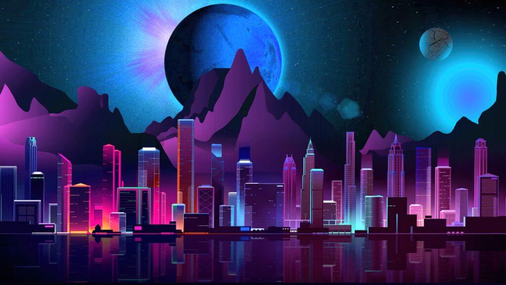 neon desktop wallpaper