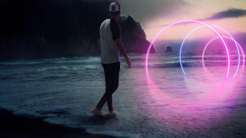 neon pc background