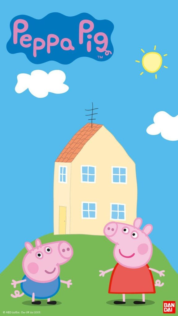 peppa pig house background 1080x1920