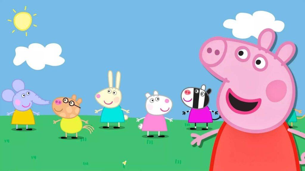 peppa pig house desktop wallpaper