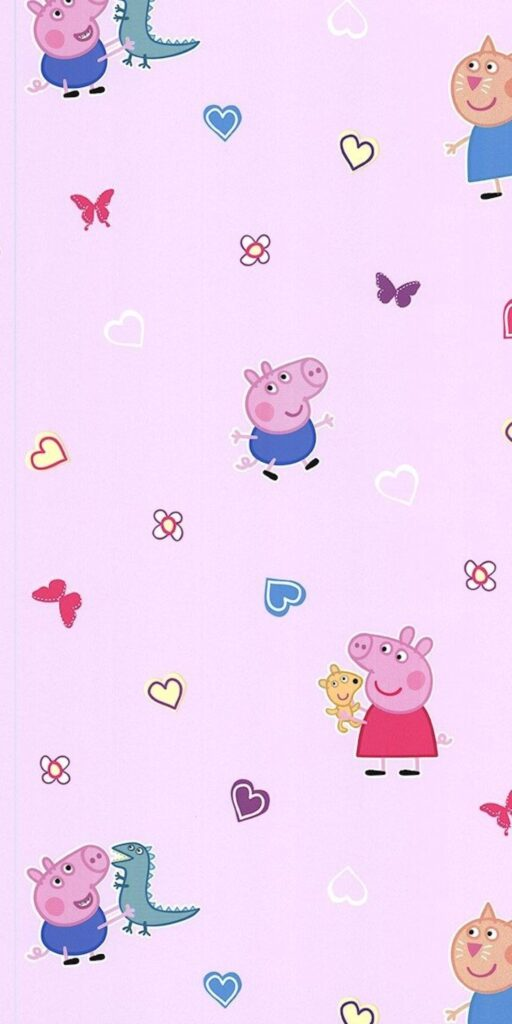 peppa pig house iphone wallpaper