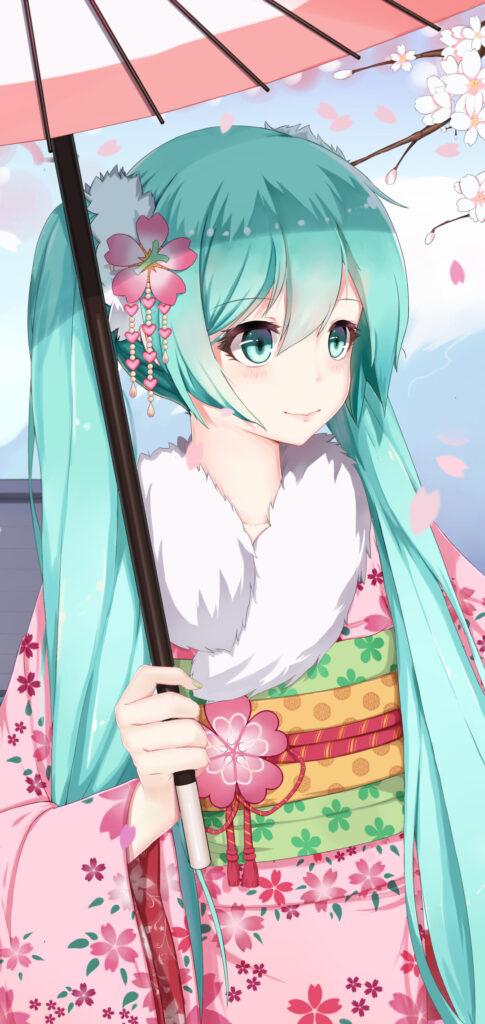 hatsune miku wallpaper iphone