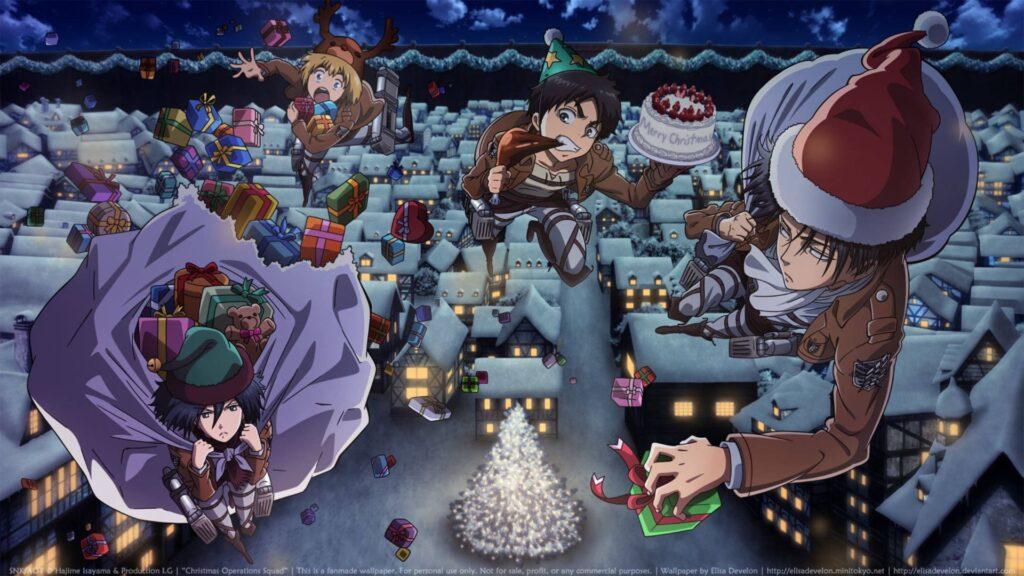 anime christmas wallpaper desktop hd