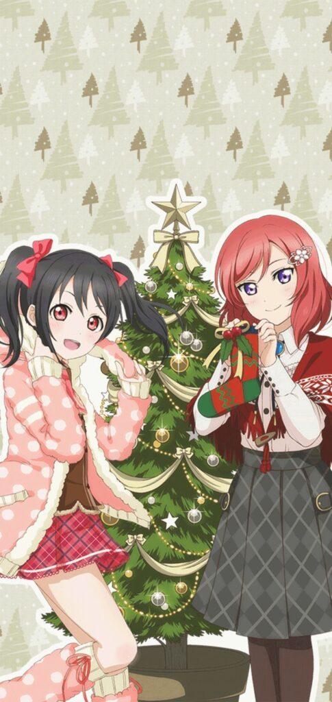 anime christmas wallpaper for mobile