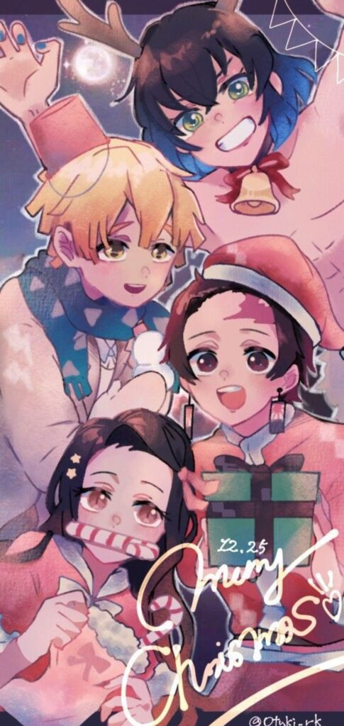 anime christmas wallpaper for phone