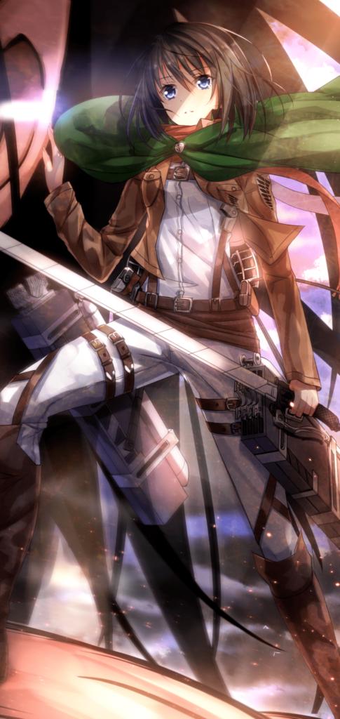 mikasa ackerman background hd