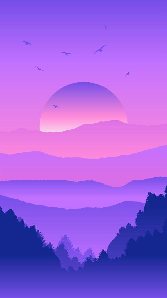 purple phone wallpaper