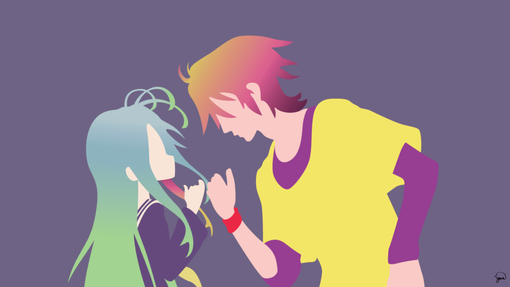 sora and shiro desktop wallpaper