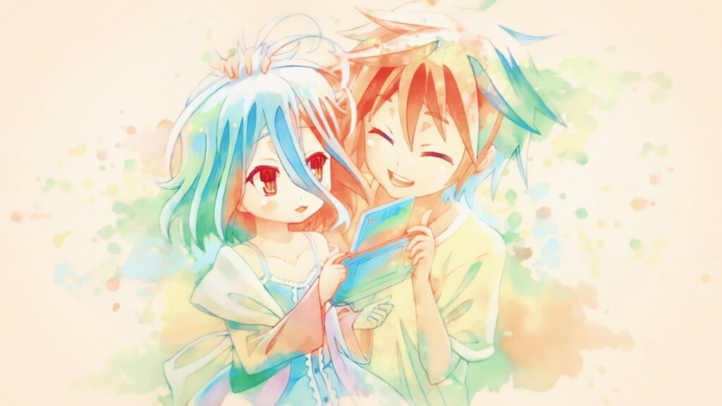 sora and shiro laptop background