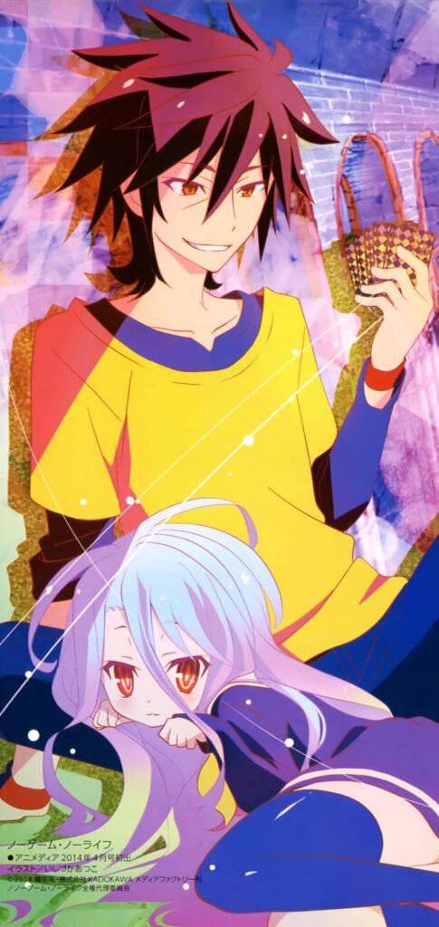 sora and shiro wallpaper 1080x1920