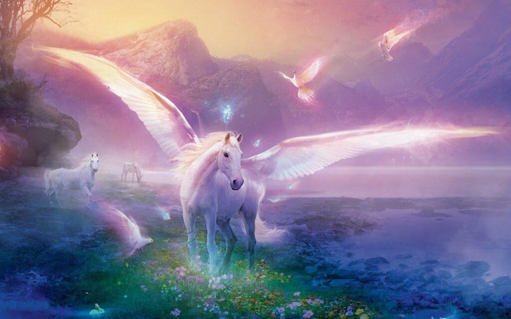 unicorn 4k background
