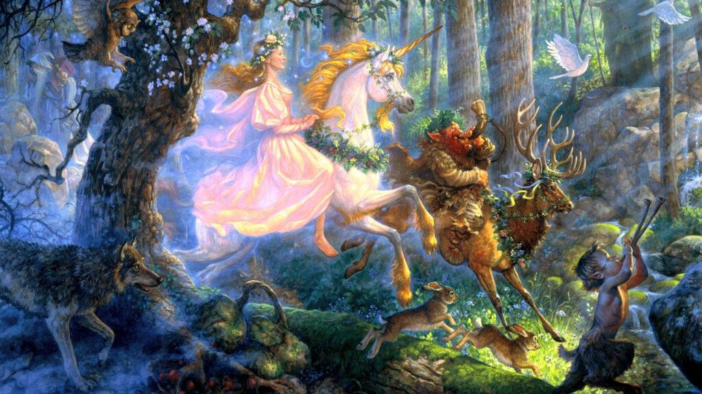 unicorn background 4k