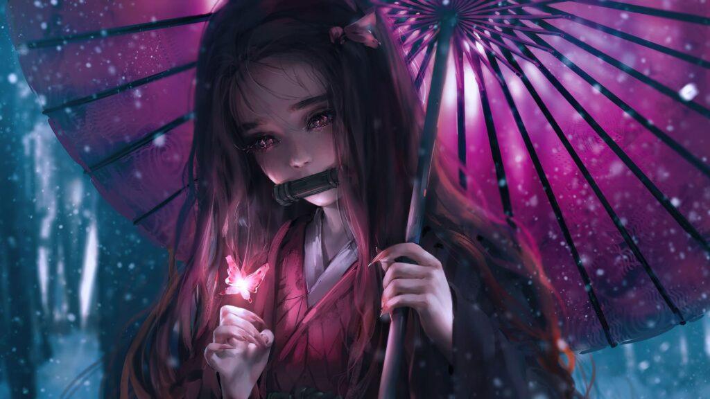 anime girl pc wallpaper