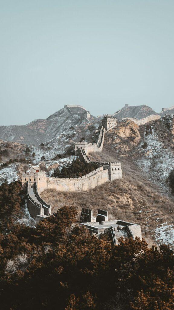 great wall of china phone wallpaper