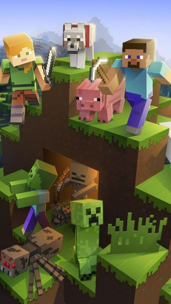 mine craft android wallpaper